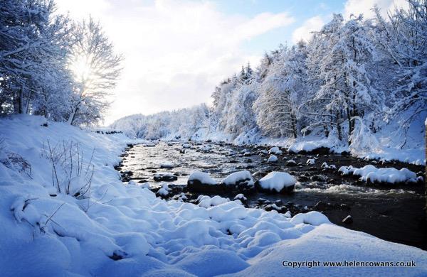Wooler Water in snow